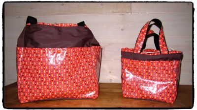 SAC WEEK END ORANGE PETIT PAN 1