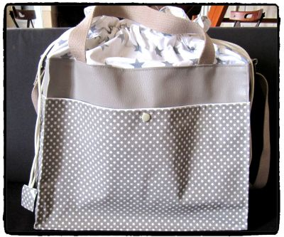 SAC A LANGER ETOILE ET TAUPE 2